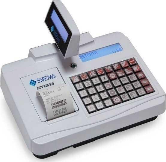 SAREMA STORE ταμειακή μηχανή νέας τεχνολογίας με δώρο το συρτάρι.
